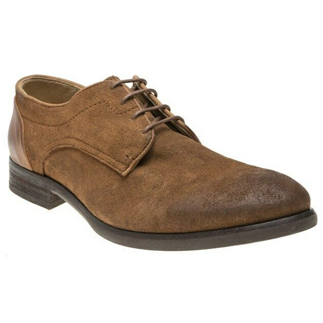 New Mens H by Hudson Tan Dreker Suede schuhe Lace Up