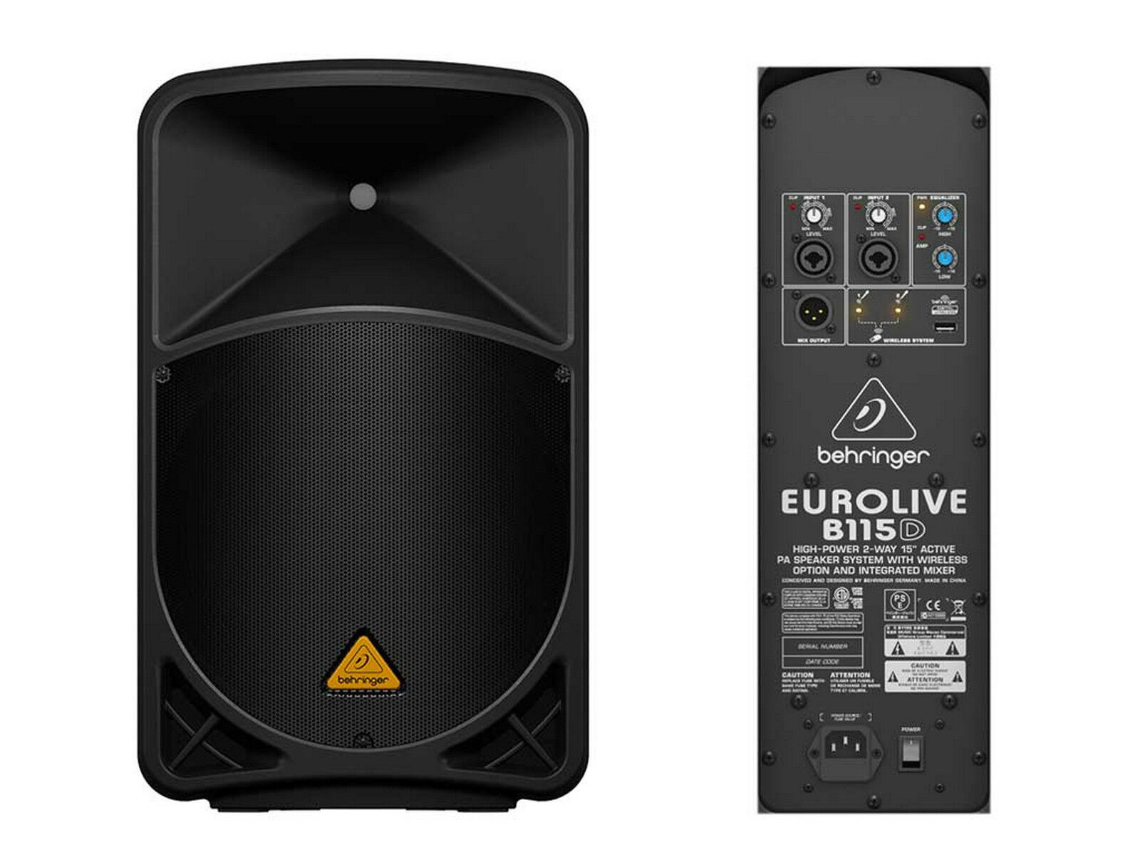 Behringer B115d Aktiv Box 2 Vie 1000w Wireless Ready