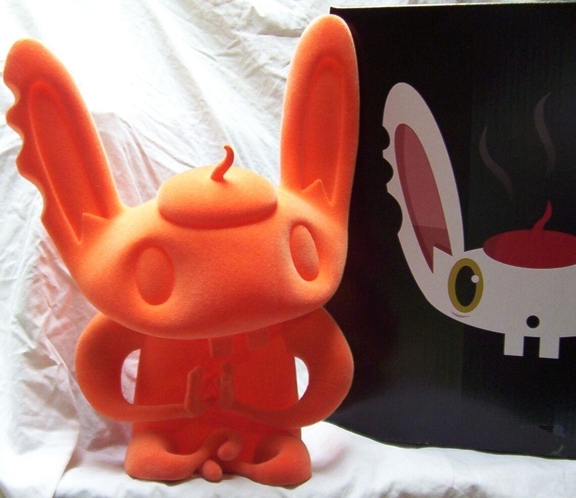 BUNNIGURU orange SCARYGIRL SCARY GIRL Bunny Rabbit only 150 nathan jurevicius