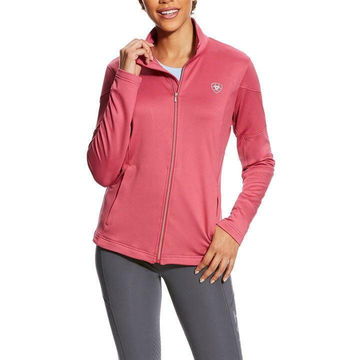 New  Ariat Women's Tolt  Full Zip Lightweight Fleece - pink purple - Sizes  S - L  comfortable