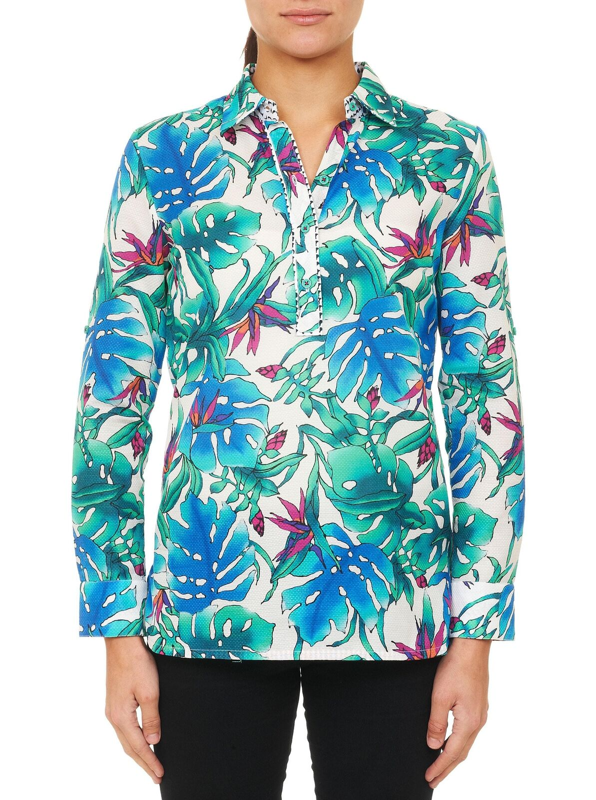 Robert Graham Woherren NWT Birds of Paradise Farbeful Shirt Größe Small