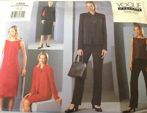 Vogue-2465-Tamotusu-Jacket-Dress-Top-Skirt-Pants-Size-6-10-Uncut-Sewing-Pattern
