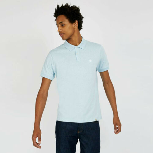 Pretty Green Mens Jersey Polo Shirt Blue