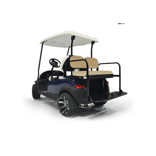 GTW Mach1 Steel Club Car Precedent Buff Golf Cart Rear Flip Seat Fits 2004 Up