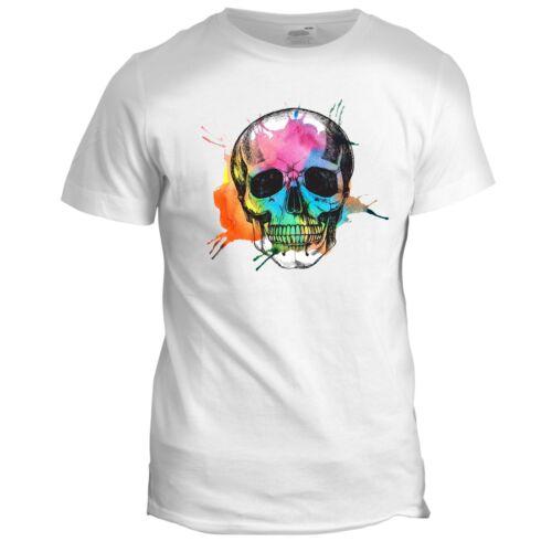 Le jour des morts Tumblr Crâne Squelette Style Moto Motard Barbe T Shirt