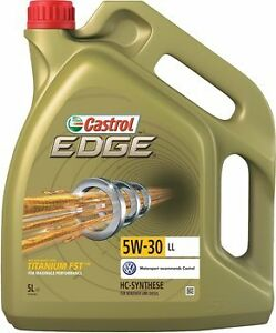 castrol edge 5w30 fully synthetic engine oil 5l vw gm longlife 5 litre ebay. Black Bedroom Furniture Sets. Home Design Ideas