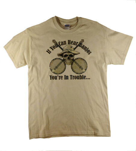 If You Hear Banjo/'s Funny Country Bluegrass Music Natural T-Shirt Ideal Gift
