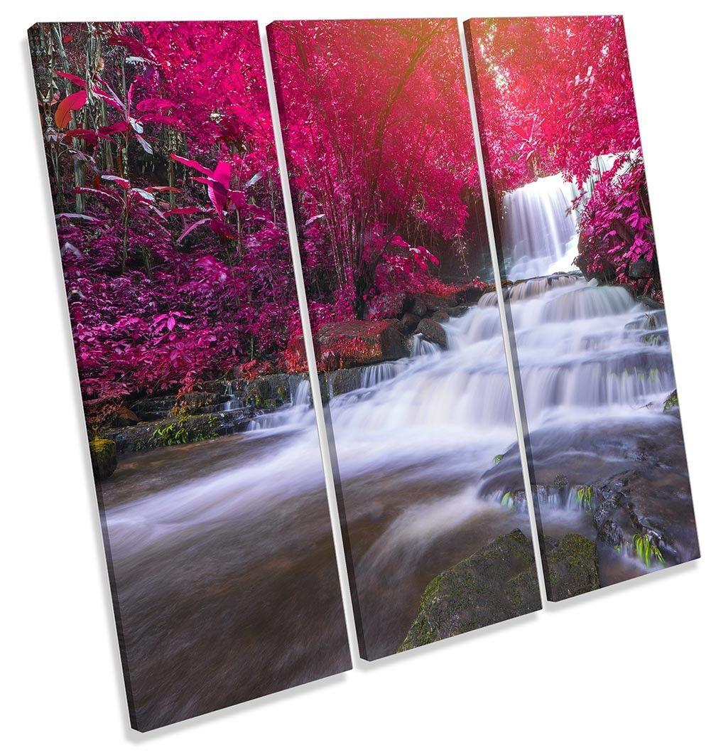Red River Bosque Paisaje Cuadro impresión LONA pared arte impresión Cuadro de agudos 98ba5b