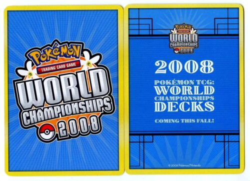 ♥ POKEMON WORLD CHAMPIONSHIPS CARD From 2004 to 2019 Votre CHOIX ♥