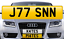 J77-SNN-JASON-Personalised-Registration-Cherished-Number-Plate thumbnail 1