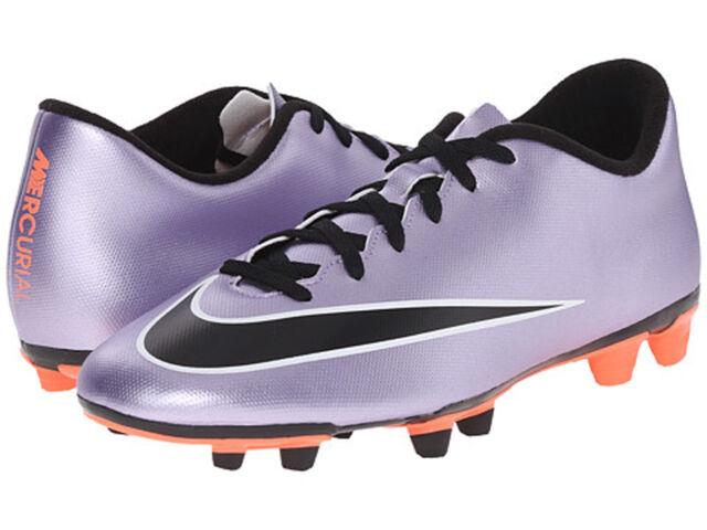 Nike Jr Mercurial Vortex II FG Youth Soccer Cleats Shoes Metallic Purple Sz  2.5 3f40f187f9a9b