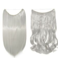 Secret Wire Headband Hidden Invisible One Piece Hair Extensions Curly Straight
