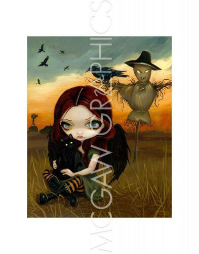"""THE SCARECROW ART PRINT POSTER 14/"""" X 11/"""" 4125 BECKET-GRIFFITH JASMINE"""