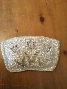 Vintage-1950s-ivory-sequin-Party-Bag-9-X-5