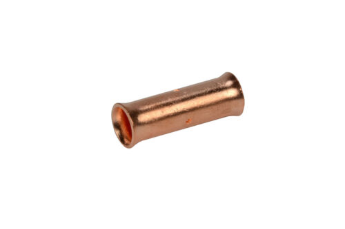 Two Count 2 AWG TEMCo Butt Splice Connector Bare Copper Uninsulated Gauge