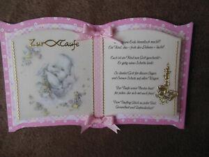 Details Zu Karte Zur Taufe Mit Vornamen Mädchentaufkarte Zur Taufeglückwunschkarte