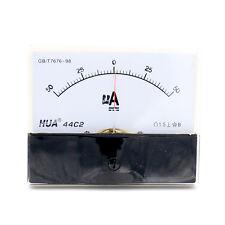 44C2 DC 50-0-50 μA Rectangle Analog Panel Amp current meter Gauge 2.5