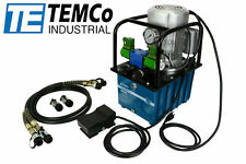 Temco Hp0003 Elect Hydraulic Pump Power Pack 2 Stage Double Acting 110v 10kpsi