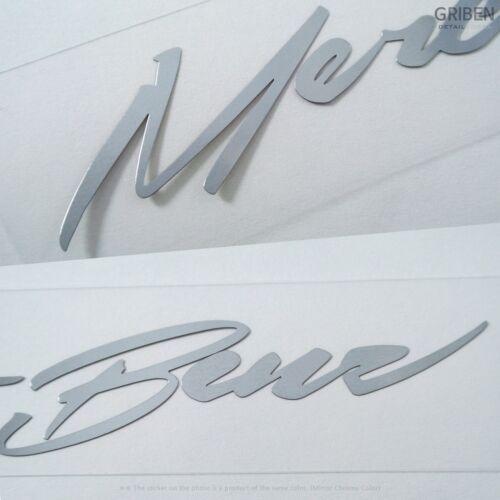 Griben Car Metal Sticker Pair Merc Chrome Decal 60059 for Mercedes-Benz /& AMG