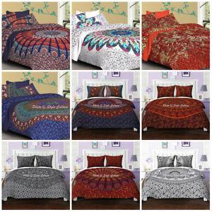 Indian Mandala Quilt Duvet Cover Multi Elephant Queen Size Doona Cover Double