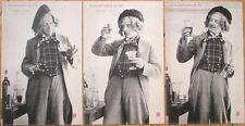 THREE 1905 Bergeret French Fantasy Postcards: Wine Maker - 'Fabrication du Vin'