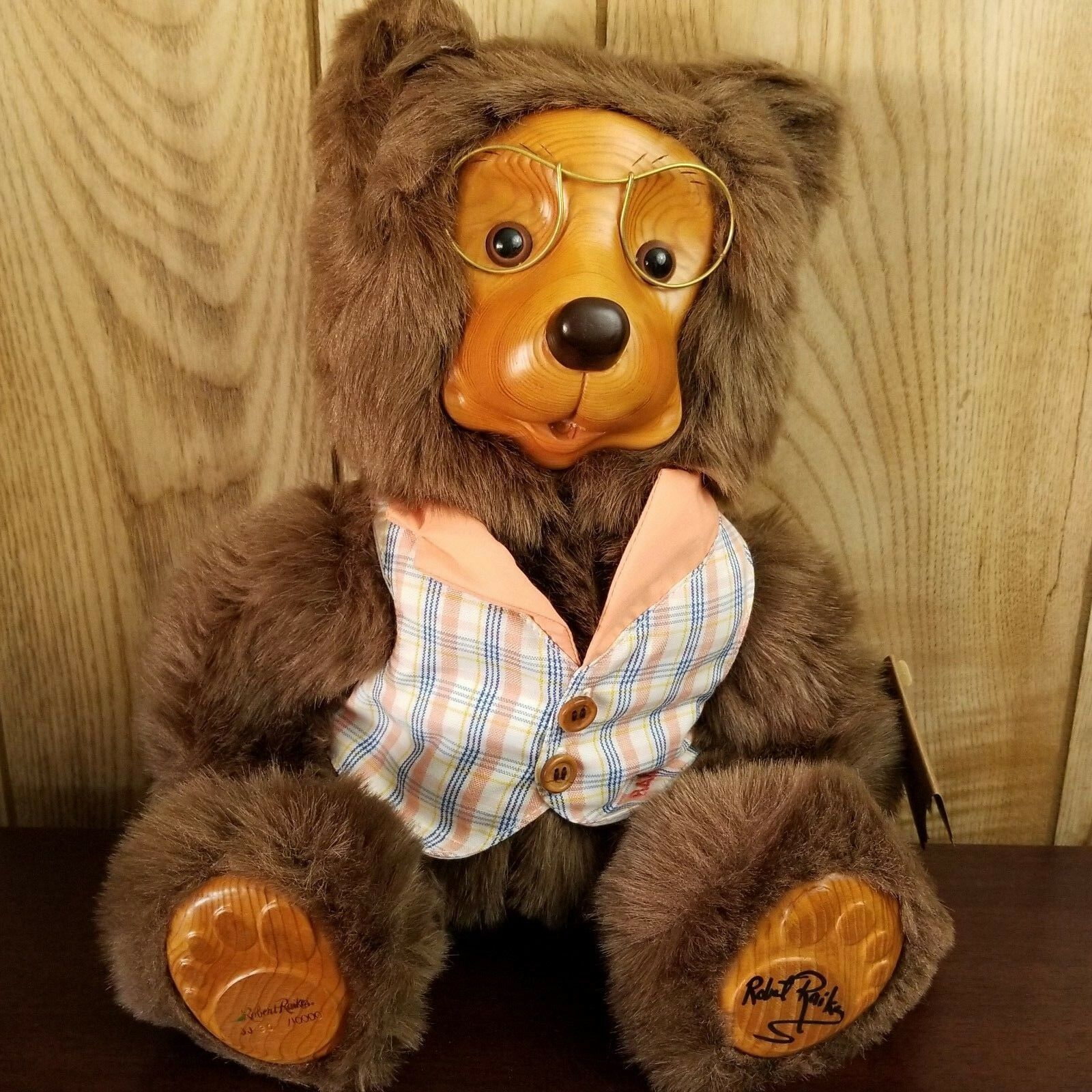 1988 Raikes JASON 17015 Home Sweet Home Plush Teddy Bear with Glasses COA Boxed