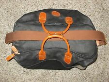 BRIC'S MADE IN ITALY BLACK SOFT LEATHER DUFFLE BAG W/ STRAP