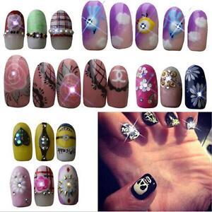 2 pcs nfc nail art tips diy sticker led light flash phone image is loading 2 pcs nfc nail art tips diy sticker prinsesfo Image collections