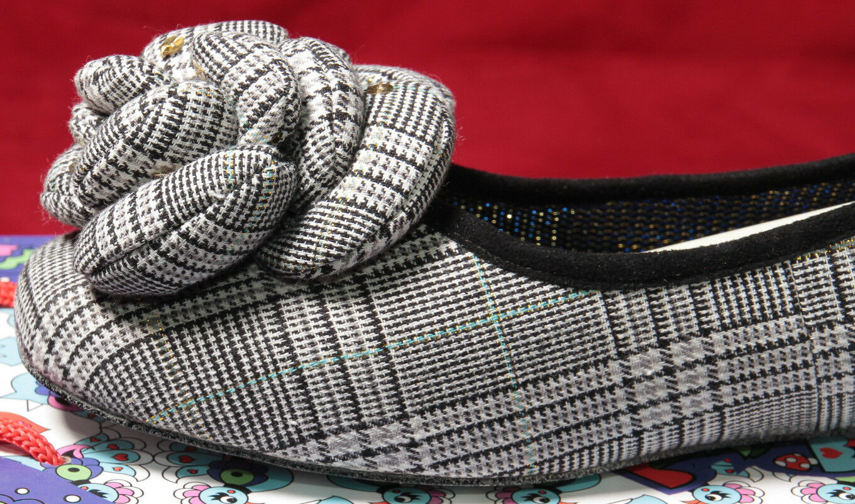 Para Mujer Zapatos irregular Choice Plaid Ballet Pisos Pisos Pisos Espumaderas 11us 42 de la UE   3949-01a  tienda de pescado para la venta
