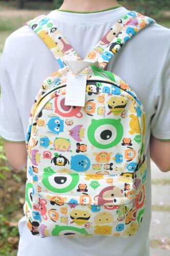 "cute tsum tsum mickey canvas zip backpack 12/"" shoulder bag new  AQ802 CUTE"