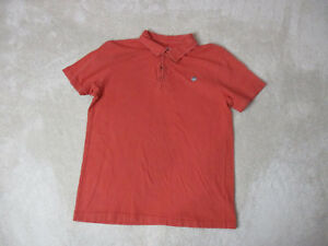 Life-Is-Good-Polo-Shirt-Size-Adult-Medium-Orange-Red-Casual-Rugby-Jake-Mens