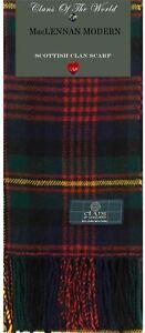 Scarf Clan 100 Tartan Modern Maclennan Lambswool Soft a7qvRHw