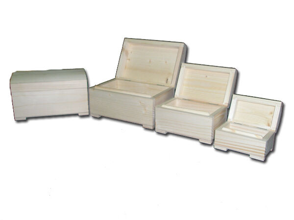 3 in1 Plain Wooden Set of Three Jewellery Boxes - Handcraft Decoupage
