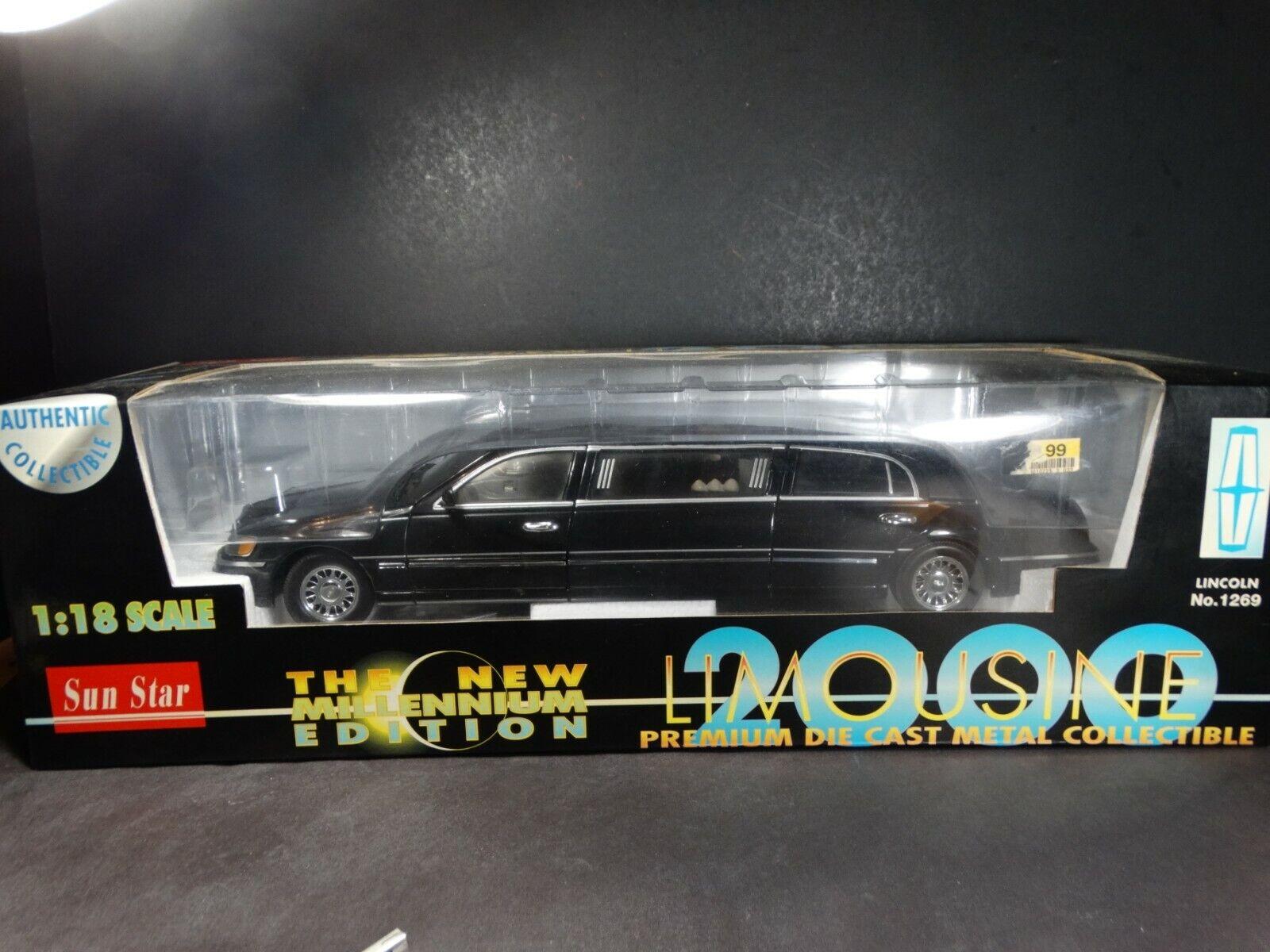 SUN STAR 2000 Lincoln Town Car Limousine 1 18 Scale Diecast modèle Party Limo
