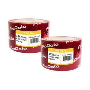 100-Pcs-PioData-Blank-DVD-R-DVDR-16X-4-7GB-Logo-Top-Surface-Disc-832-810SA
