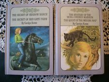 Nancy Drew Set of 2 Books (4 Mysteries) Carolyn Keene 1965, 1971