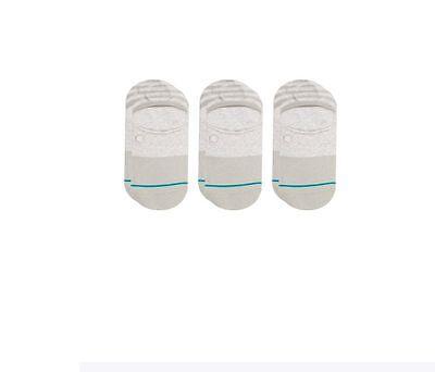 Stance NEW Men/'s White Gamut 3 Pack Super Invisible Socks Large 9-12