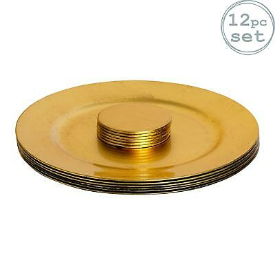 6X Round Charger Plate Blue Plastic 30CM//12