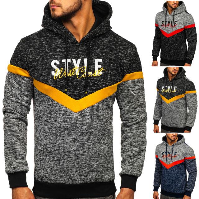 Kapuzenpullover Sweatshirt Pullover Sport Kapuze Aufdruck Herren BOLF 1A1 Motiv
