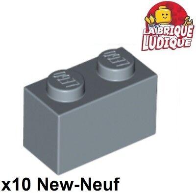 10x Brick Brick 1x2 2x1 Blue Pale Lego Blase Sand//Sand Blue 3004 New