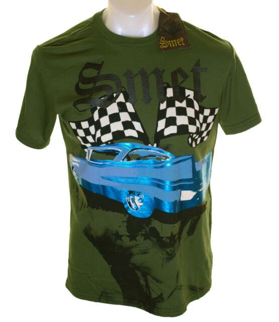 neuf avec étiquettes authentique homme SMET Film imprimé CADILLAC T shirt