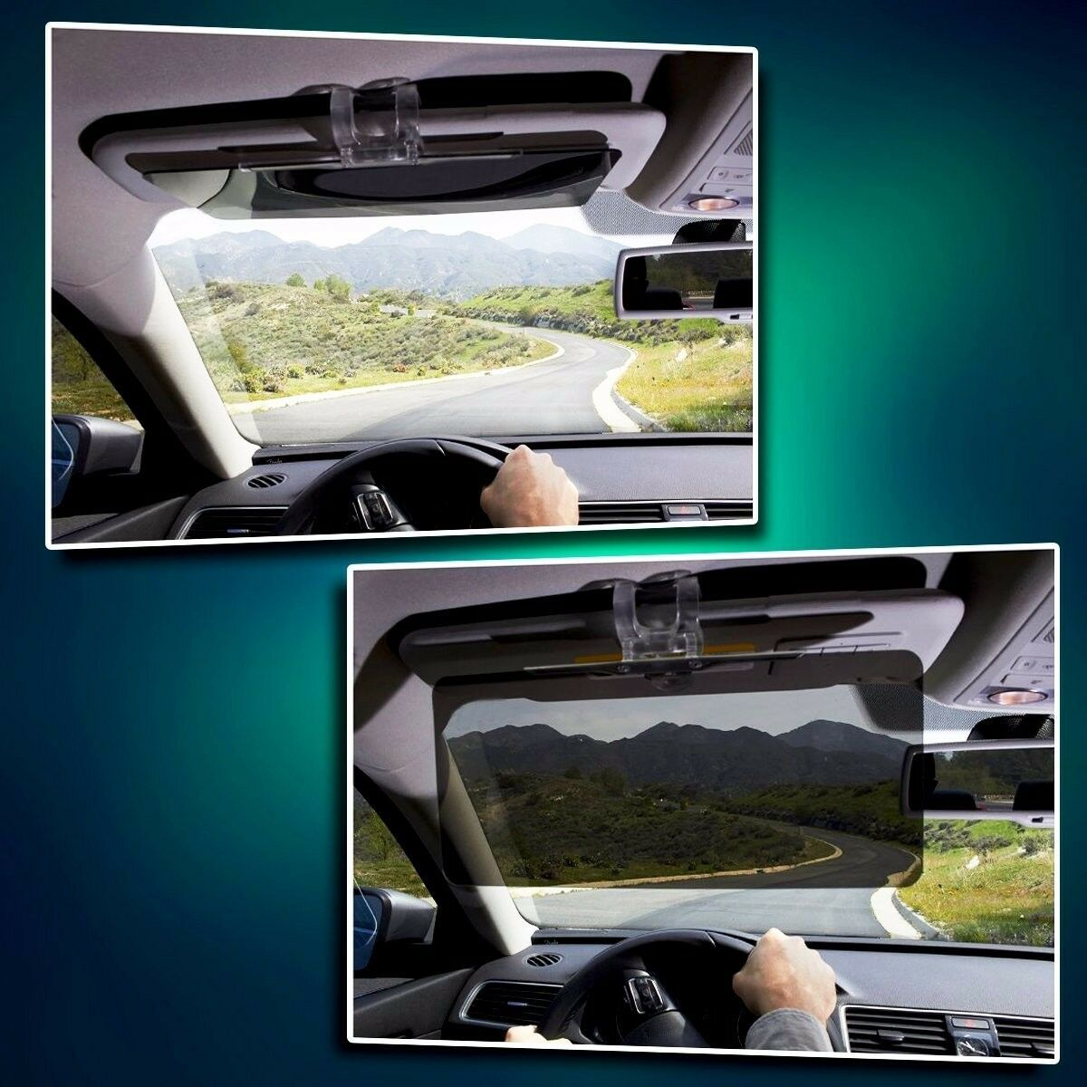 Zone Tech Clear View Sun Visor Extender Extension Ray