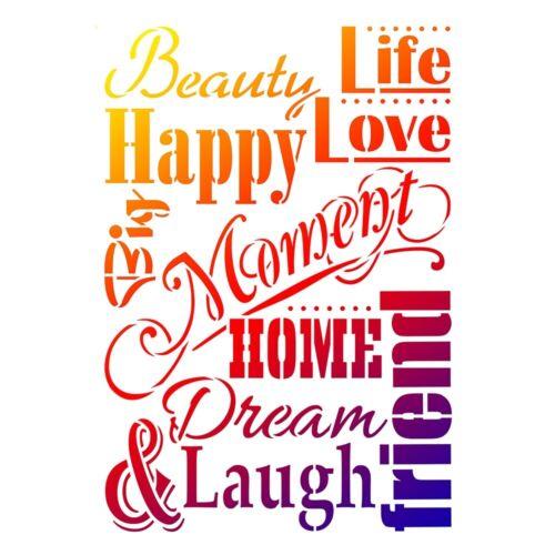 Viva Decor-Universal-galería de símbolos a3 Life Love /& Laugh