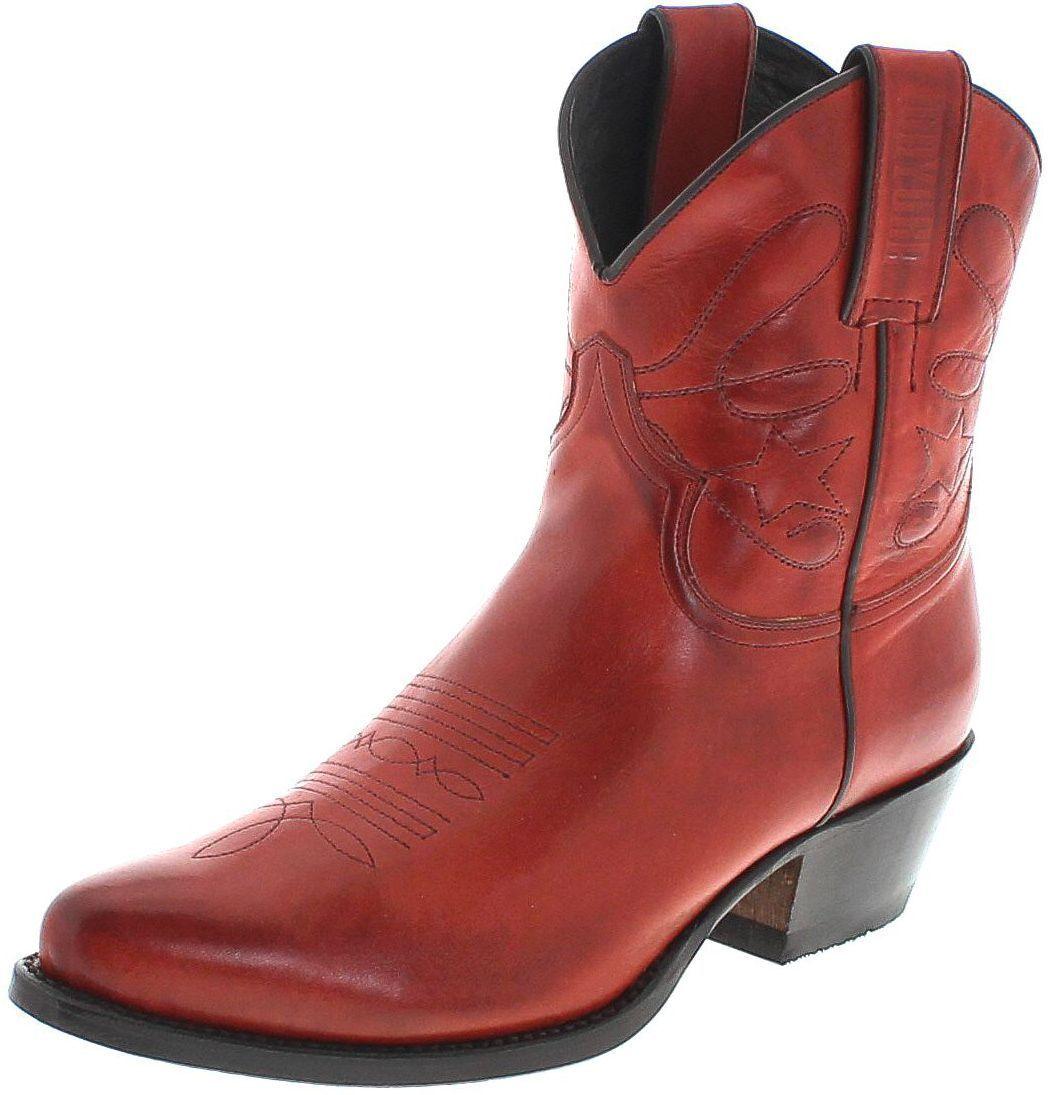 Mayura Stiefel 2374 rot Fashion Stiefelette für Damen Rot