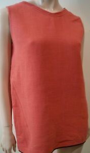 4b87cde56f2e4c MARNI Women s Pinky Peach Wool Blend Round Neck Sleeveless Top Sz 42 ...