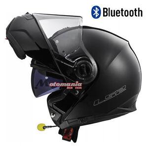 Casque De Moto Modulaire Ls2 Ff325 Stroboscope Noir Mat Bluetooth