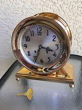 "Antique Chelsea Ship's Admiral Mantel Clock Ca. 1916 Ball Base, 6"" Face,Restored"