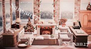 Animal-Crossing-NH-winterliches-Wohnzimmer-Livingroom