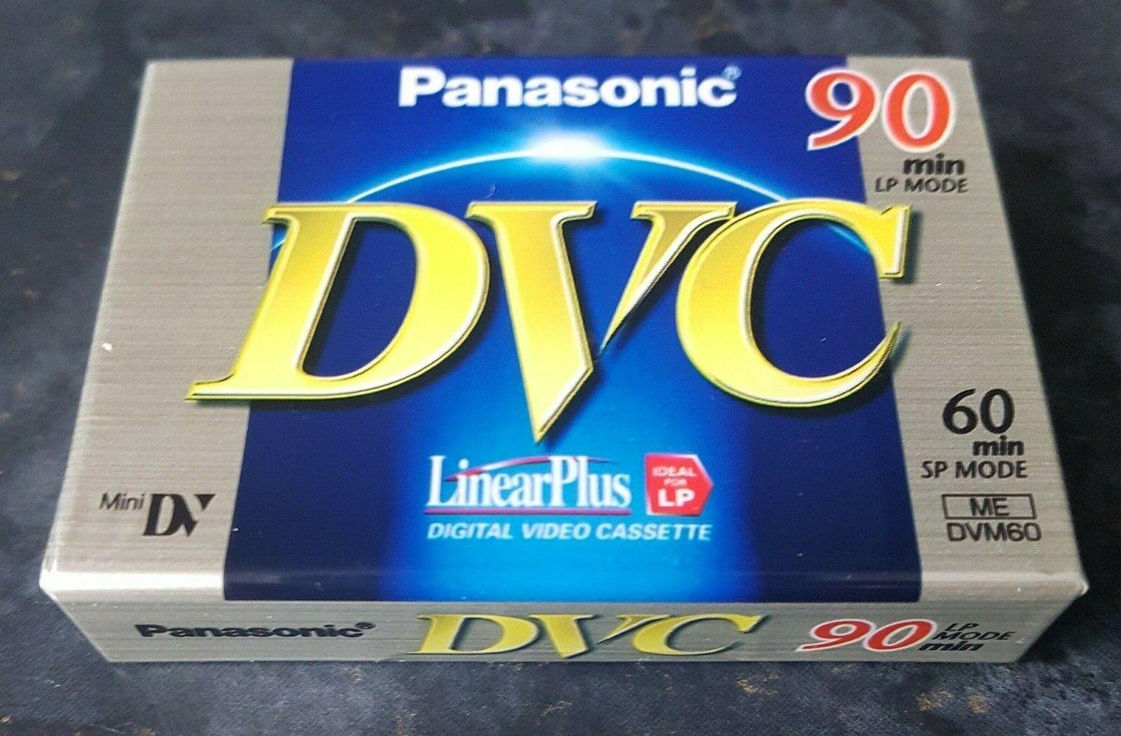 1x Panasonic DVC LP 90min SP 60min AY-DVM60FE Factory Sealed Blank Tape