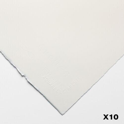 10 Hojas Arcos 300gsm 22x30in prensado en caliente Aquarelle 56X76cm